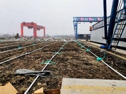 高铁梁场精心施工
